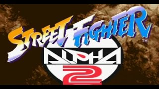 Classic PS1 Game Street Fighter Alpha 2 on PS3 in HD 720p