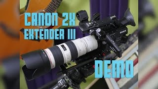 Canon Extender EF 2X III Demo / 70-200mm f2.8 IS / FS5