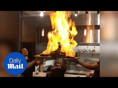 Flaming dish set off restaurant sprinklers - Daily Mail