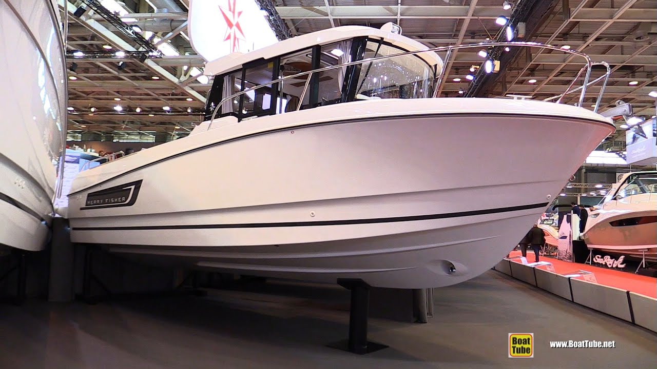 Salon Nautique à Paris 2016 Jeanneau Merry Fisher 755 Marlin Motor Boat