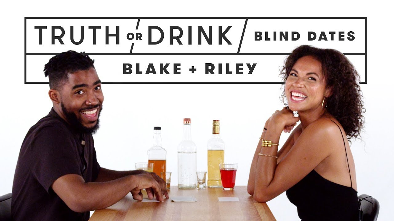 Blind Dates Play Truth or Drink (Blake & Rhylie)   Truth or Drink   Cut