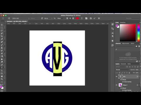 How To Use Circle Monogram Font In Adobe Photoshop