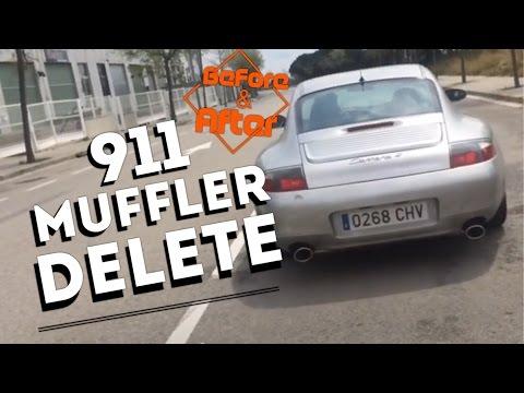 Bypass Muffler Delete before and after - Porsche 996 c4 911