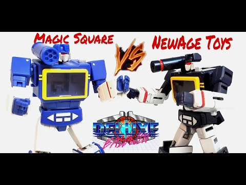 Magic Square VS NewAge and Friends G1 Soundwave by Deluxe Baldwin