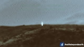 Mysterious beam of light spotted on the surface of Mars! Alien base? UFO? April 6 2014