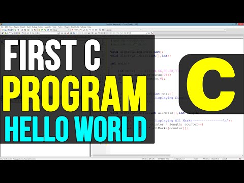 Creating First Program ( Hello World ) in C Programming Language Video Tutorials