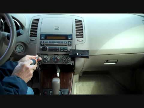 How to Nissan Altima Bose Car Stereo Radio Removal 2005 - 2006