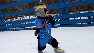 ПАПА МОЖЕТ. Первая тренировка. Горные лыжи. Спортшкола КАНТ