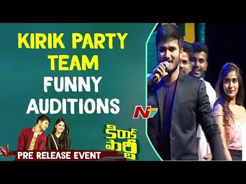 kirik Party Team Funny Auditions @ Kirrak Party Pre Release Event    Nikhil    Samyuktha    NTV