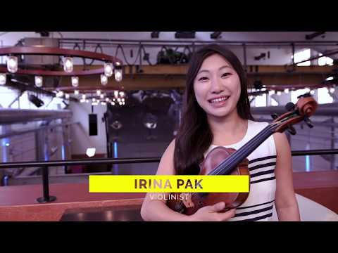 "Irina Pak with ""More than Classic"" - artistic director and violinist"