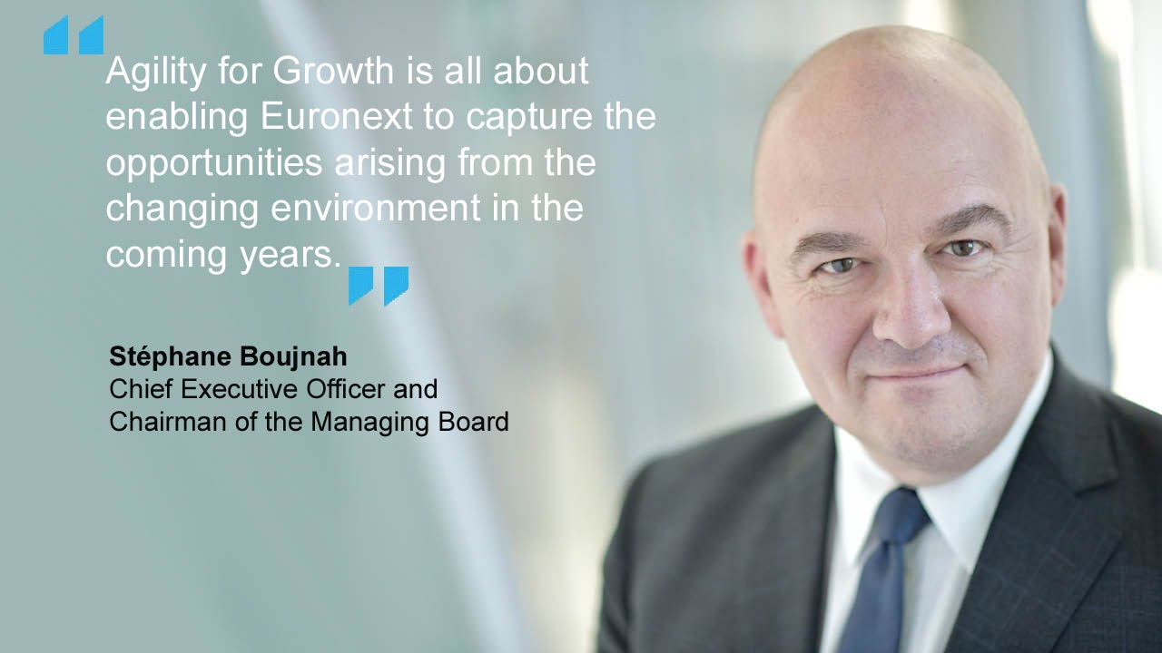 "EURONEXT NEW STRATEGIC PLAN: ""AGILITY FOR GROWTH"""
