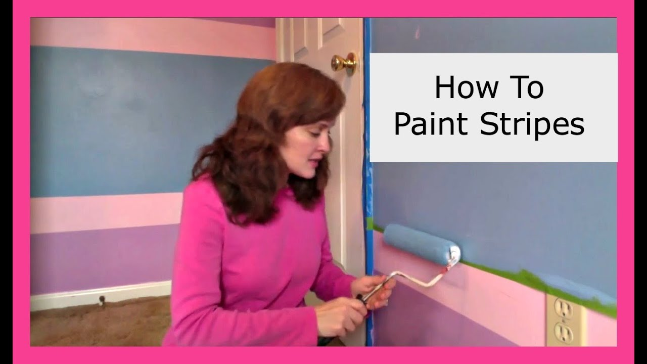 How to paint stripes in a bedroom diy momprepares for How to pain a room