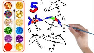 Learning number 5 to 10 easy drawing for kids - step by step
