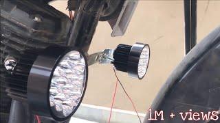 Best Fog Light For Bikes   27w LED Round Light    Installation    HONDA LIVO    Must Watch