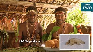 Tribes react to polar bears - Tribes, Predators and Me - BBC Two