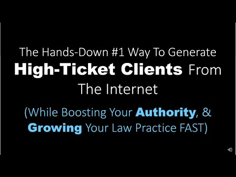 Attorney Internet Marketing - Fastest Way To Get 5-10 New Clients Per Month, 'On Demand'
