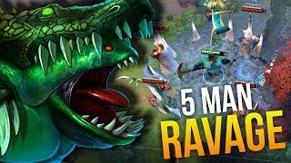 5 MAN RAVAGE - Amazing Team Fight VP vs Optic Gaming RAMPAGE 7.10   Dota 2