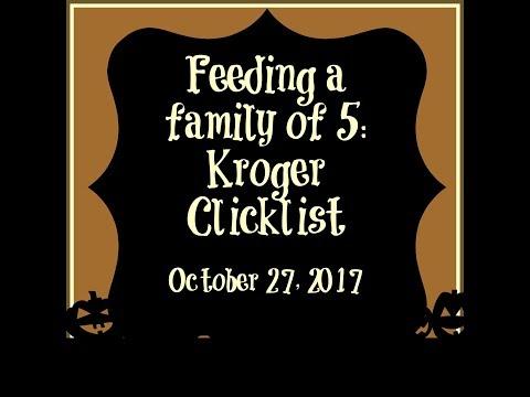 Feeding A Family of 5: Kroger Click List October 27, 2017