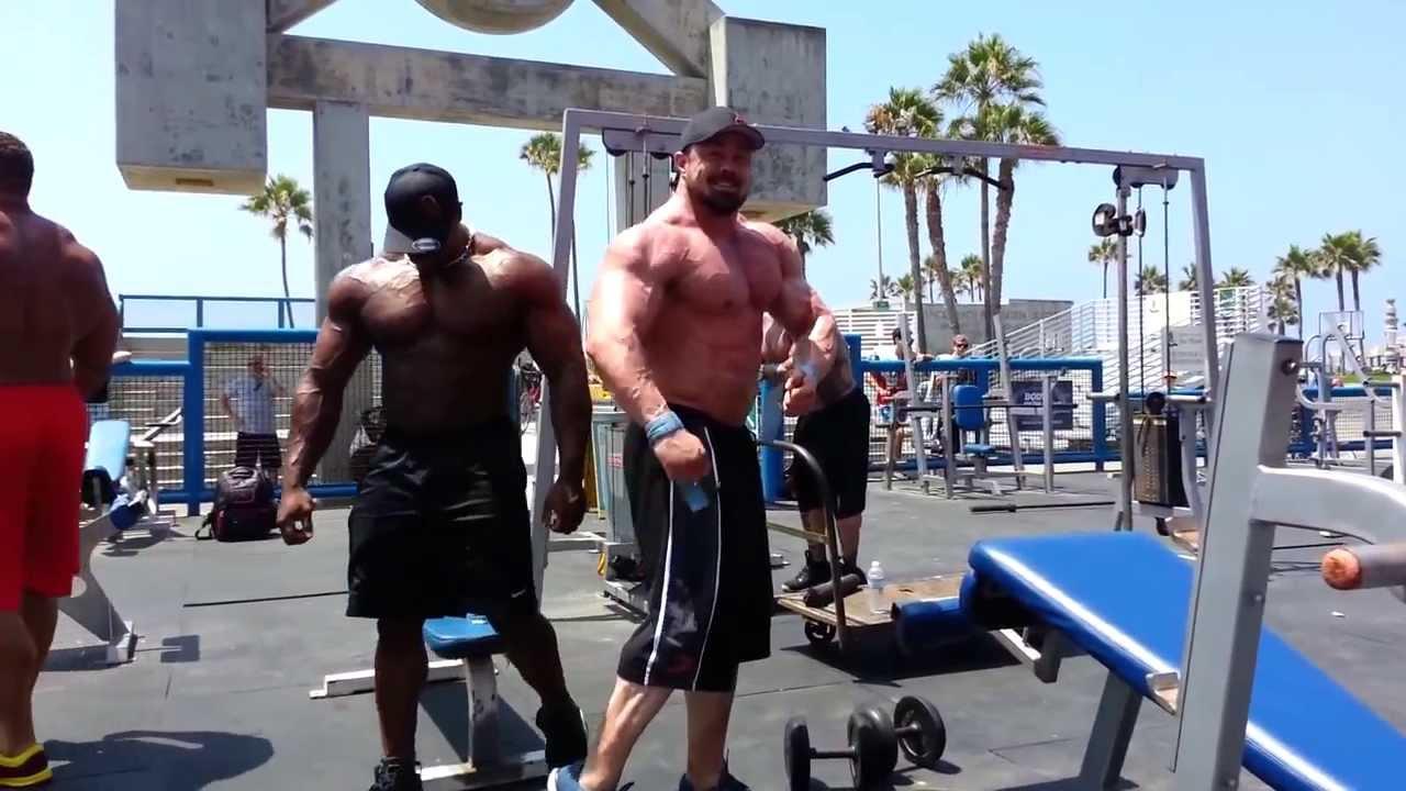 Muscle Beach Pit Raw Workout Rich Piana Gabe Moen Ron Partlow Renaldo Gairy You