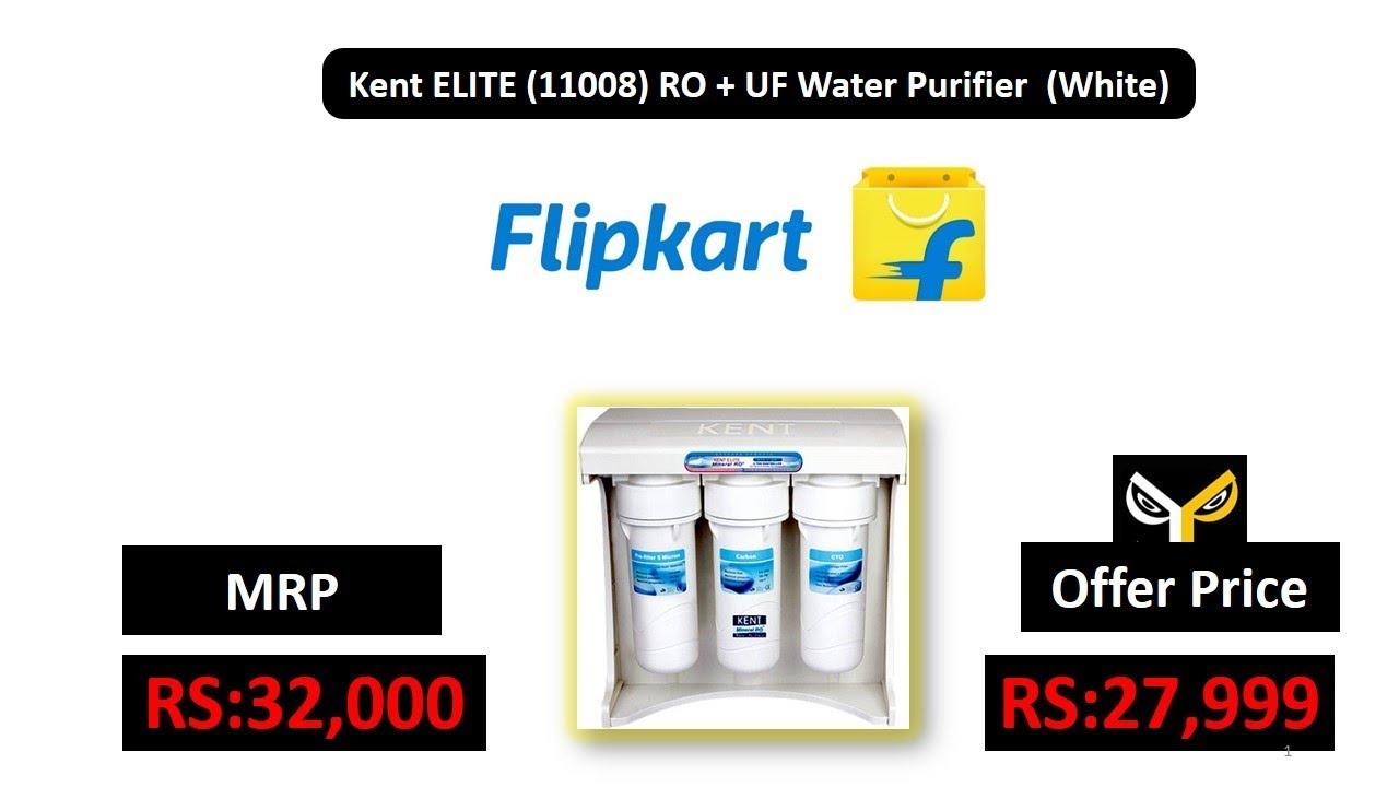 0e9cf71a844 Kent ELITE (11008) RO + UF Water Purifier (White) - YouTube
