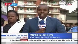 Delays as the Michuki Rules prove difficult to the matatu system:rules drive matatus off roads