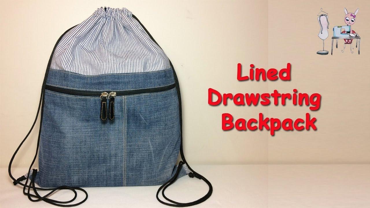 Diy Backpack Drawstring Bag Diy Bag How To Make Drawstring Backpack Bag Sewing Tutorial Youtube