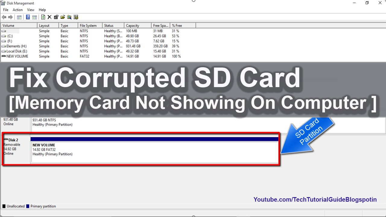 how to repair a corrupted/damaged sd card [ memory card not