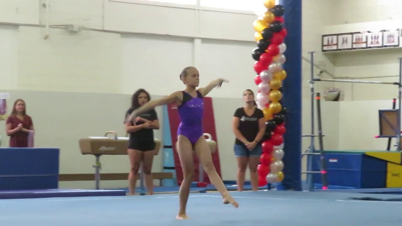 Riley Maness Level 7 Gymnastics Floor Routine - YouTube