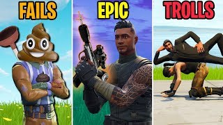 HOW TO RIDE A NOSKIN! FAILS vs EPIC vs TROLLS - Fortnite Battle Royale Funny Moments