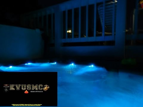Solar And Wind Home Power At Night With Hot Tub With Heat On By KVUSMC