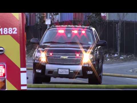 LAFD Fire Chief responding/on scene