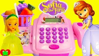 Disney Princess Sofia the First Buys Groceries with Cash Register