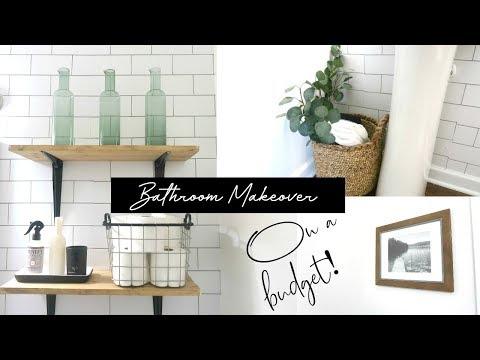 Bathroom Makeover | On a budget | Renter friendly