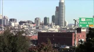 San Francisco Downtown view from Potrero Hill 05/Jan/2014 #1 サンフランシスコ/ダウンタウンをポトレーロ丘から見下ろす