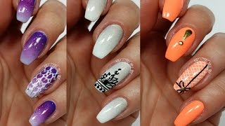 3 Easy Accent Nail Ideas! Freehand #4 (Khrystynas Nail Art)