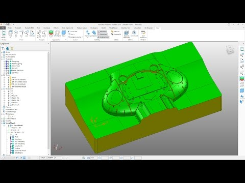 PowerMill 2018 Getting Started - Tutorial 5 - Finishing Toolpaths