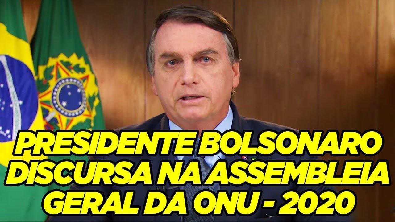 Discurso Presidente Jair Bolsonaro - 75ª Assembleia Geral da ONU 2020