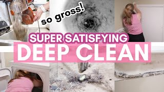 NEW!! SUPER SATISFYING DEEP CLEANING MOTIVATION 2021 | How To Deep Clean Your Laundry Room