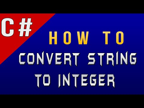 How To Convert String To Integer In C#/CSharp