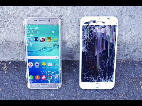 Samsung Galaxy S6 Edge Plus VS iPhone 6 Plus Drop Test!