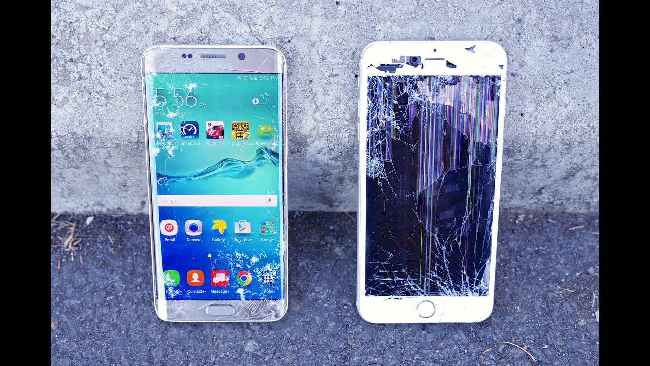 Galaxy S8 Plus vs iPhone 5S! - Speed Test - YouTube