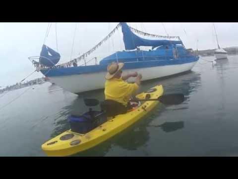 Newport Bay, CA Kayak fishing