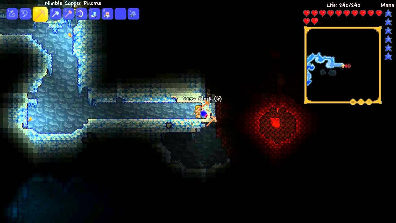 Terraria WTF: Wall of Flesh glitch - YouTube