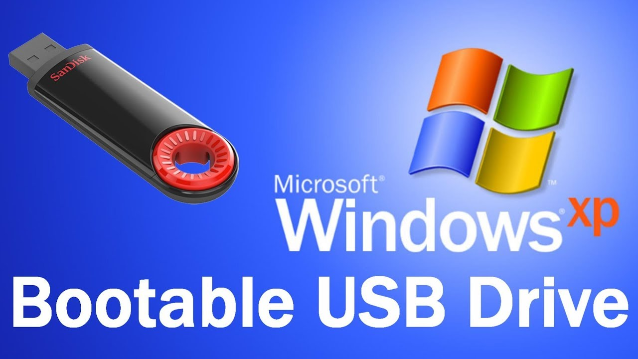 Make A Windows Xp Bootable Flash Drive Youtube