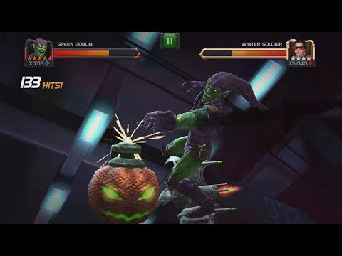 5 Star Green Goblin VS Realm of Legends Winter Soldier + Duel Gameplay - Marvel Contest Of Champions