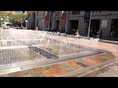 Fountain-like Water Feature In Perth City