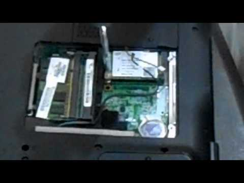 Laptop Repair In Columbus Ohio - Replacing A Wireless Card On A HP DV9000