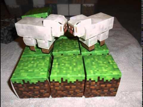 Minecraft PaperCraft :: Stop Motion Animation :: Sheep