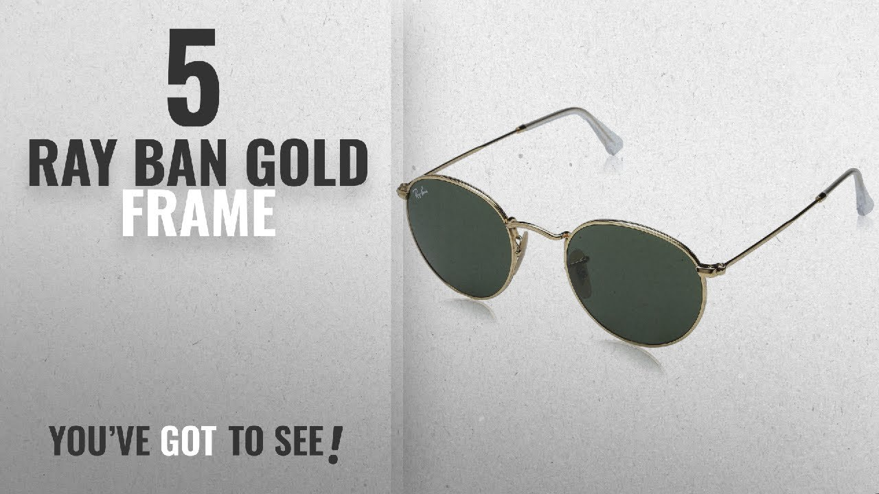3e90c27ce9 Top 10 Ray Ban Gold Frame   Winter 2018    Ray-Ban ROUND METAL ...