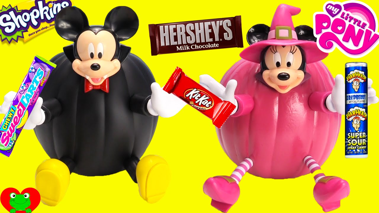 Mickey Mouse and Minnie Mouse Halloween Pumpkin Surprises and ...